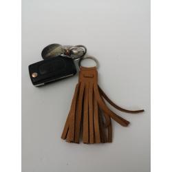 Porte-clé lien marron clair